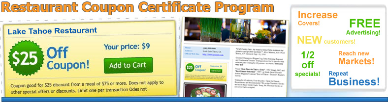 Restaurant Certificate Coupon Program