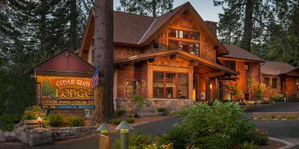 Cedar glen lodge lake tahoe for North lake tahoe cabins
