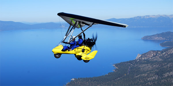 Hang Gliding Above Tahoe CA