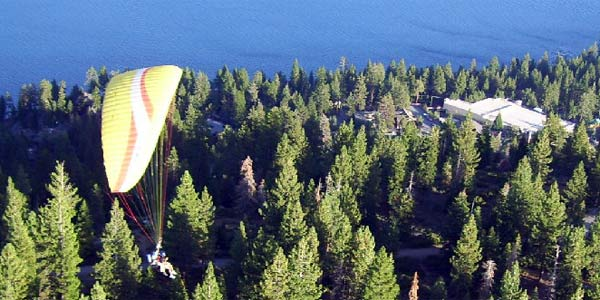 Paragliding in Lake Tahoe CA