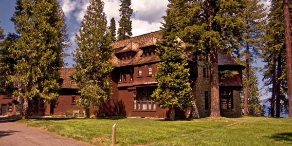 The historic Ehrman Mansion Sugar Pine Point State Park California