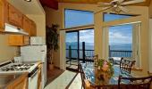Mourelatos Lakeshore Lodge Hotel Kitchen with View