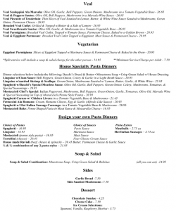 Bachhi's Inn Lake Tahoe Menu page 2