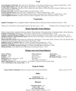 Bachhi's Inn Lake Tahoe Menu page 2