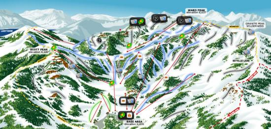 Alpine Meadows Ski Resort Trail Map