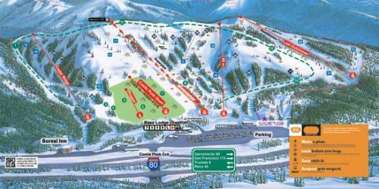 Boreal Mountain Ski Resort Trail Map