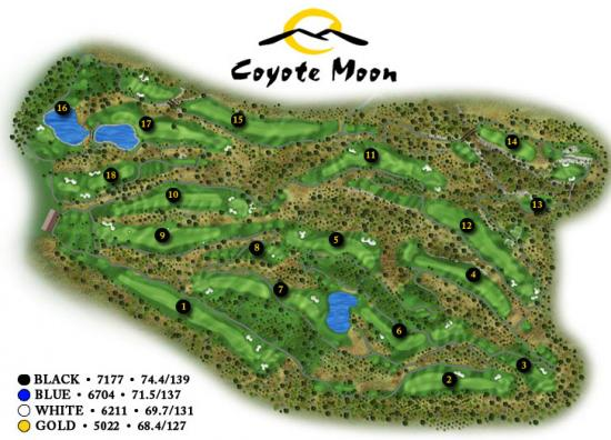 Coyote Moon Golf Course Map