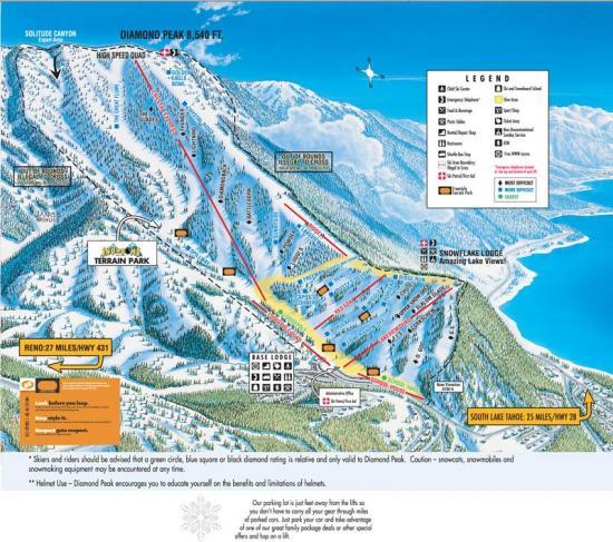 Diamond Peak Ski Resort Trail Map