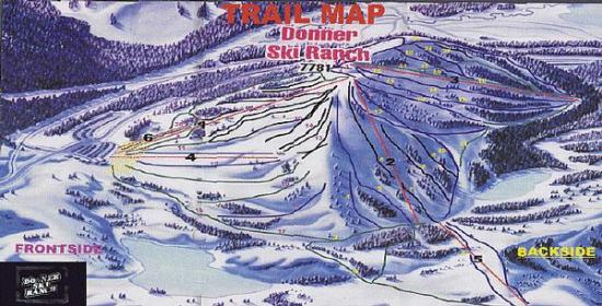 Donner Ski Ranch Trail Map