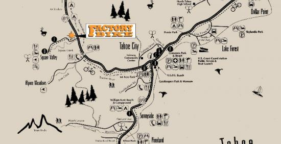 Factory Bike Tahoe City Trail Map