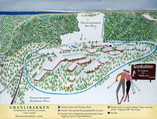 Granlibakken Ski Resort Trail Map