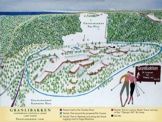 Granlibakken Ski Resort Trail Map