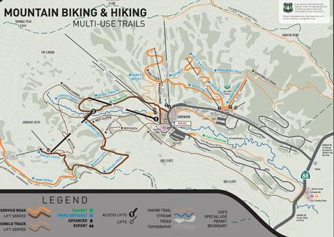 Kirkwood Mountain Bike Park Trail Map