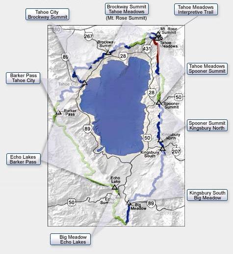 Tahoe Rim Trail Association Trail Map