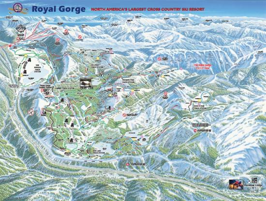 Royal Gorge Cross Country Ski Resort Trail Map