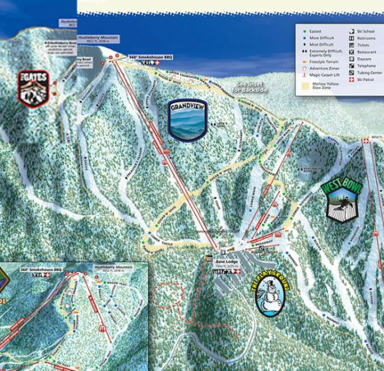 Sierra at Tahoe Ski Resort Trail Map