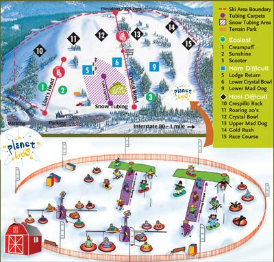 Soda Springs Winter Resort Trail Map