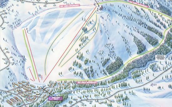 Tahoe Donner Ski Resort Trail Map