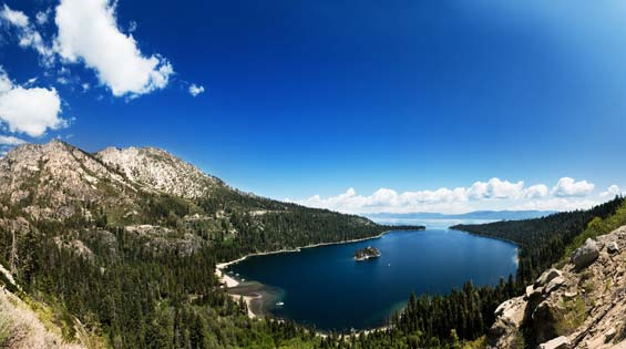 Views of Lake Tahoe California