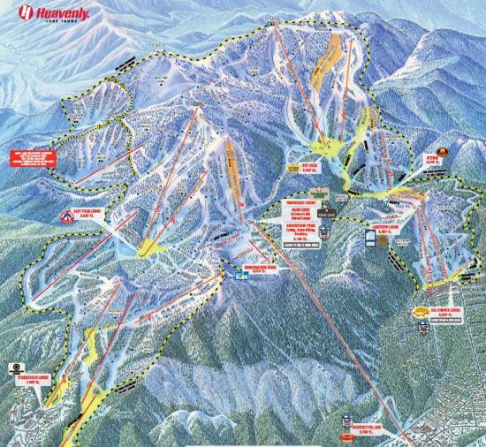 Heavenly Mountain Resort Trail Map