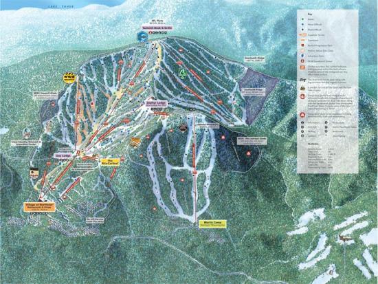 Northstar at Tahoe Ski Resort Trail Map